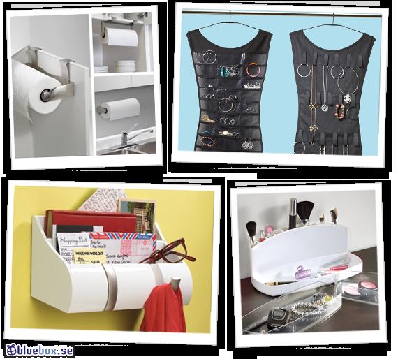 Förvaring - hushållspappershållare, smyckesförvaring, hallförvaring, sminkförvaring