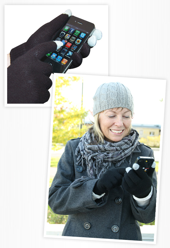 iPhone handskar vantar smartphone