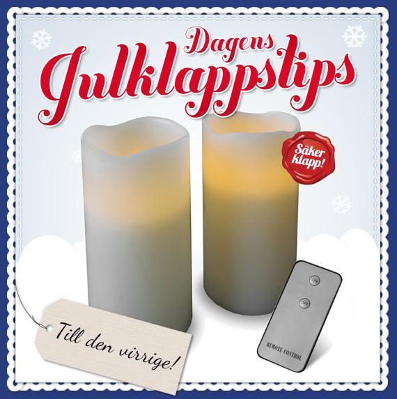 Dagens julklappstips - Elektriska stearinljus